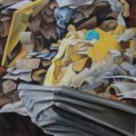 Sur un piedestal pastel  40x40cm Corinne SIMON-AYMARD